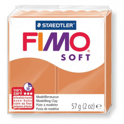 Pasta para modelar staedtler fimo® soft 8020, pastilla de 57 grs. color cognac.