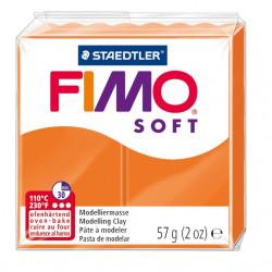 Pasta para modelar staedtler fimo® soft 8020, pastilla de 57 grs. color naranja.