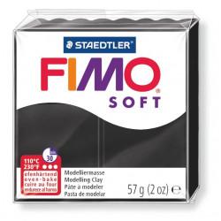 Pasta para modelar staedtler fimo® soft 8020, pastilla de 57 grs. color negro.