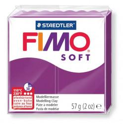 Pasta para modelar staedtler fimo® soft 8020, pastilla de 57 grs. color púrpura.