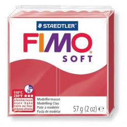 Pasta para modelar staedtler fimo® soft 8020, pastilla de 57 grs. color rojo cereza.