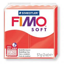 Pasta para modelar staedtler fimo® soft 8020, pastilla de 57 grs. color rojo indio.