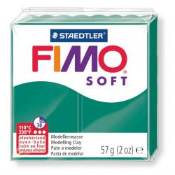 Pasta para modelar staedtler fimo® soft 8020, pastilla de 57 grs. color verde esmeralda.