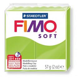 Pasta para modelar staedtler fimo® soft 8020, pastilla de 57 grs. color verde manzana.