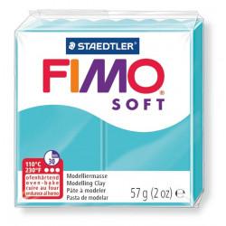 Pasta para modelar staedtler fimo® soft 8020, pastilla de 57 grs. color verde menta.