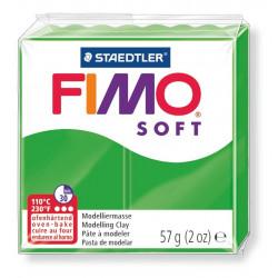 Pasta para modelar staedtler fimo® soft 8020, pastilla de 57 grs. color verde tropical.