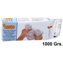 Pasta para modelar jovi air dry, pastilla de 1.000 grs. color blanco.