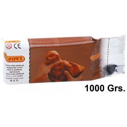 Pasta para modelar jovi air dry, pastilla de 1.000 grs. color terracotta.