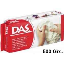 Pasta para modelar das, pastilla de 500 grs. color blanco.