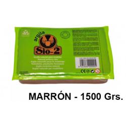 Arcilla para modelar sio-2, pastilla de 1.500 grs. color marrón.