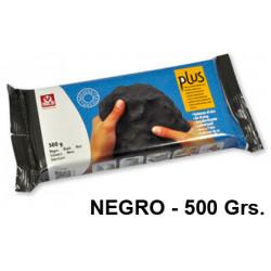 Arcilla para modelar sio plus, pastilla de 500 grs. color negro.