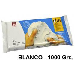 Arcilla para modelar sio plus, pastilla de 1.000 grs. color blanco.