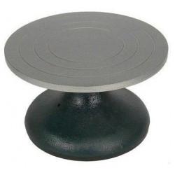 Torneta de metal para modelar arcilla artist diámetro de 18 cm. color gris/negro.