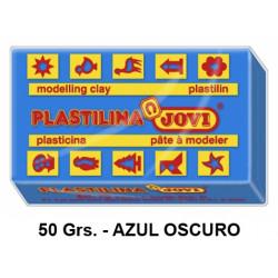 Plastilina jovi, pastilla de 50 grs. color azul oscuro.