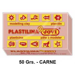 Plastilina jovi, pastilla de 50 grs. color carne.