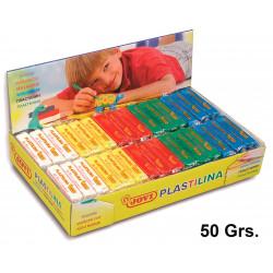 Plastilina jovi, pastilla de 50 grs. en colores surtidos, caja de 30 uds.