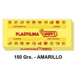 Plastilina jovi, pastilla de 150 grs. color amarillo.