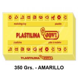 Plastilina jovi, pastilla de 350 grs. color amarillo.