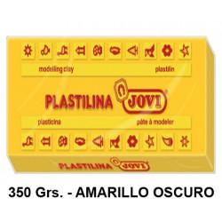 Plastilina jovi, pastilla de 350 grs. color amarillo oscuro.