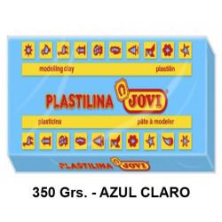 Plastilina jovi, pastilla de 350 grs. color azul claro.