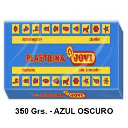 Plastilina jovi, pastilla de 350 grs. color azul oscuro.