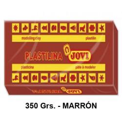 Plastilina jovi, pastilla de 350 grs. color marrón.
