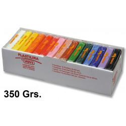 Plastilina jovi, pastilla de 350 grs. en colores surtidos, caja de 15 uds.