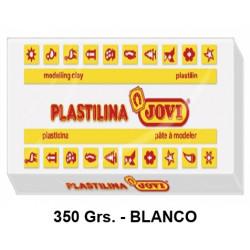 Plastilina jovi, pastilla de 350 grs. color blanco.