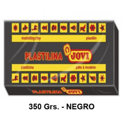 Plastilina jovi, pastilla de 350 grs. color negro.