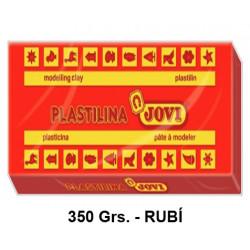 Plastilina jovi, pastilla de 350 grs. color rubí.