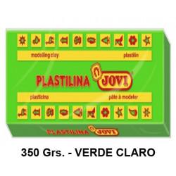 Plastilina jovi, pastilla de 350 grs. color verde claro.