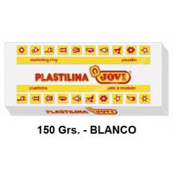 Plastilina jovi, pastilla de 150 grs. color blanco.