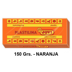 Plastilina jovi, pastilla de 150 grs. color naranja.