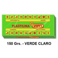 Plastilina jovi, pastilla de 150 grs. color verde claro.