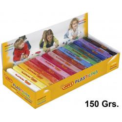 Plastilina jovi, pastilla de 150 grs. en colores surtidos, caja de 15 uds.