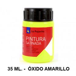 Pintura satinada la pajarita, bote de 35 ml. color óxido amarillo.