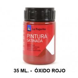 Pintura satinada la pajarita, bote de 35 ml. color óxido rojo.