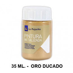 Pintura metalizada la pajarita, bote de 35 ml. color oro ducado.