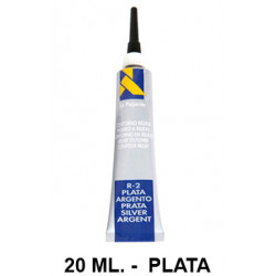 Contorno relieve la pajarita, bote de 20 ml. color plata.