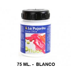 Pintura acrílica fluorescente la pajarita, bote de 75 ml. color blanco.