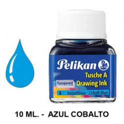 Tinta china pelikan, frasco de 10 ml. color azul cobalto.