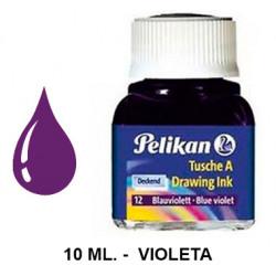 Tinta china pelikan, frasco de 10 ml. color violeta.