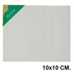 Bastidor con lienzo de tela 100% de algodón artist en formato 10x10 cm.