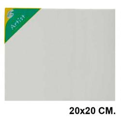 Bastidor con lienzo de tela 100% de algodón artist en formato 20x20 cm.