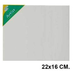 Bastidor con lienzo de tela 100% de algodón artist en formato 22x16 cm.