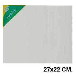 Bastidor con lienzo de tela 100% de algodón artist en formato 27x22 cm.