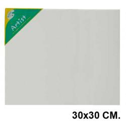 Bastidor con lienzo de tela 100% de algodón artist en formato 30x30 cm.