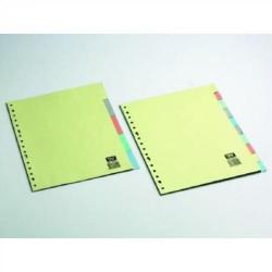 Separador con multitaladro en cartulina de 5 posiciones para formatos en din a-4/folio.