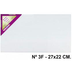 Bastidor con lienzo de tela 100% de algodón lidercolor en formato 27x22 cm. nº 3f.