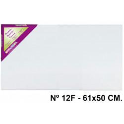 Bastidor con lienzo de tela 100% de algodón liderpapel lidercolor en formato 61x50 cm. nº 12f.